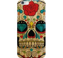 Wood Sugar Skull iPhone Case/Skin