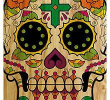 Wood Sugar Skull by Bethany-Bailey