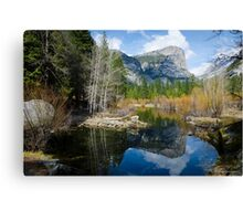 Mirror lake-Yosemite Canvas Print