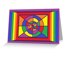 A Geometric Rainbow Dezine Greeting Card