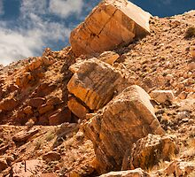 Limestone Boulders and Blue Sky by Ron LaFond
