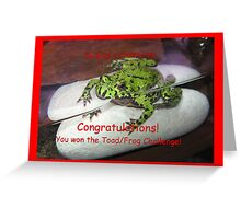 Banner AGC Toad Challenge Greeting Card