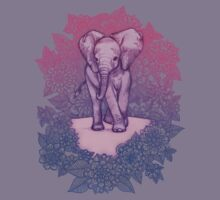 Cute Baby Elephant in pink, purple & blue Kids Clothes