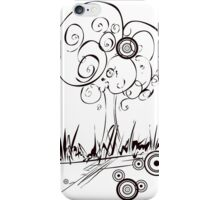 abstract retro tree iPhone Case/Skin