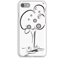 retro tree drawing illustration iPhone Case/Skin