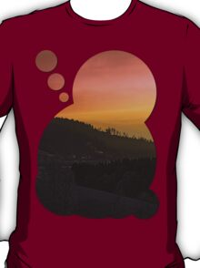 Winter sunrise over the mountains II | landscape photography T-Shirt
