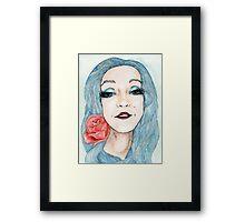 Illustrated Nina Framed Print