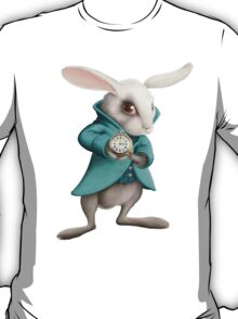 white rabbit with clock T-Shirt