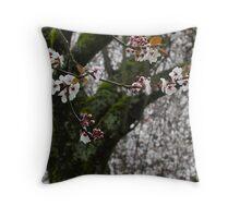 Bokeh blossom background  Throw Pillow