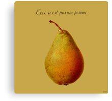 Ceci n'est pas une pomme Canvas Print