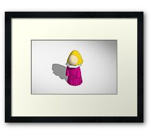 Tinkercad 3d tinker of a choir lady Framed Print
