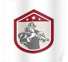 Fireman Firefighter Emergency Worker Poster