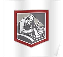 Car Mechanic Repair Automobile Shield Retro Poster