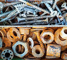 Rusty Toolbox and Corroded Screws by Justin Spooner
