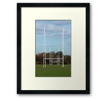 Rugby Posts Framed Print