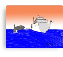 Japan banned from whale hunting Canvas Print