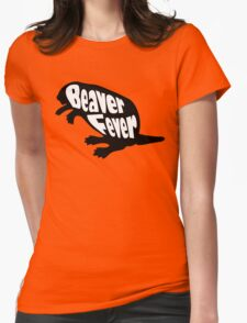 Beaver Fever Lesbian Funny Womens Fitted T-Shirt