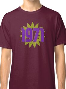 Vintage Look 1970's Funky Year Graphic 1971 Classic T-Shirt