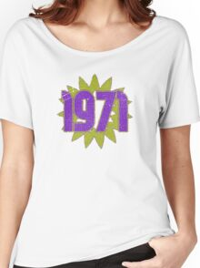 Vintage Look 1970's Funky Year Graphic 1971 Women's Relaxed Fit T-Shirt