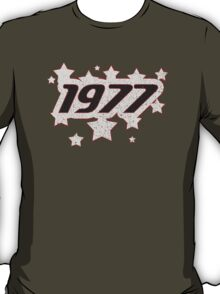 Vintage Look 1970's Funky Year Graphic 1977 T-Shirt