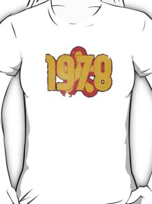Vintage Look 1970's Funky Year Graphic 1978 T-Shirt