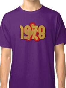 Vintage Look 1970's Funky Year Graphic 1978 Classic T-Shirt