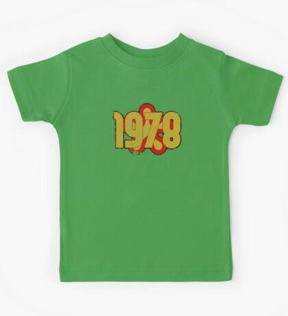 Vintage Look 1970's Funky Year Graphic 1978 Kids Tee