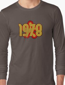 Vintage Look 1970's Funky Year Graphic 1978 Long Sleeve T-Shirt