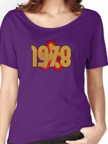 Vintage Look 1970's Funky Year Graphic 1978 Women's Relaxed Fit T-Shirt
