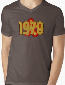 Vintage Look 1970's Funky Year Graphic 1978 Mens V-Neck T-Shirt