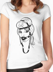 BDSM HH2 Trainer Head Harness  Women's Fitted Scoop T-Shirt