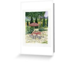"""IL PRANZO"" TUSCANY ITALY - Watercolor Greeting Card"
