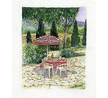 """IL PRANZO"" TUSCANY ITALY - Watercolor Photographic Print"