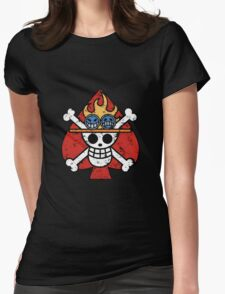Spade Pirates Jolly Roger Womens Fitted T-Shirt