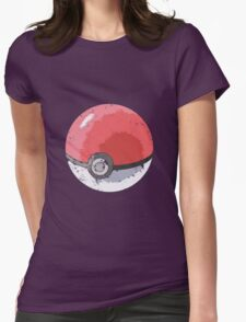 Pokeball Vintage Design Womens Fitted T-Shirt