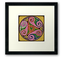 Multicolor Triskelion Celtic Symbol Framed Print