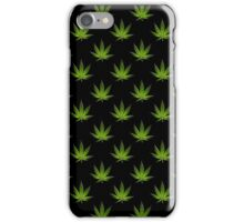 Marijuana Leaves Pattern Black II iPhone Case/Skin
