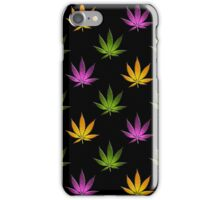Marijuana Leaves Pattern Black Large iPhone Case/Skin