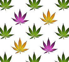 Marijuana Leaves Pattern Large by cnstudio