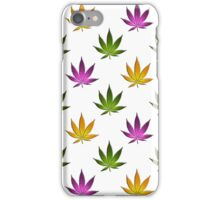 Marijuana Leaves Pattern Large iPhone Case/Skin