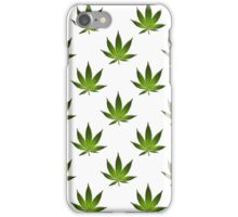 Marijuana Leaves Pattern Large II iPhone Case/Skin