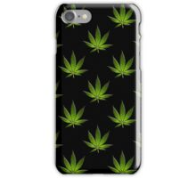 Marijuana Leaves Pattern Black Large II iPhone Case/Skin