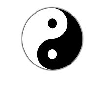 Yin Yang Chinese symbol; Tai Chi; Martial Art, by TOM HILL - Designer