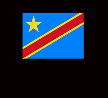 Congolese Flag, Democratic Republic of the Congo by TOM HILL - Designer