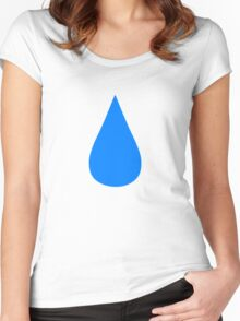 Water Drop Women's Fitted Scoop T-Shirt