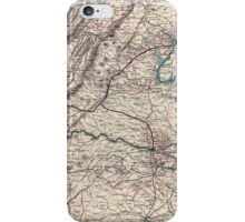 Civil War Maps 1077 Map showing the location of battle fields of Virginia iPhone Case/Skin