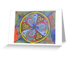 Carnival Triskele Greeting Card