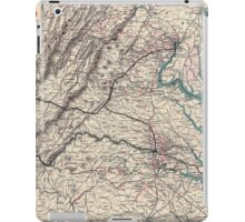 Civil War Maps 1077 Map showing the location of battle fields of Virginia iPad Case/Skin