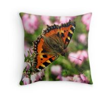 Small Tortoiseshell Butterfly Throw Pillow