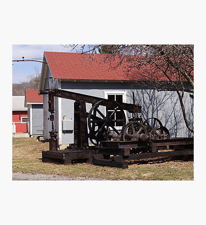 Antique Drilling Pumps Photographic Print